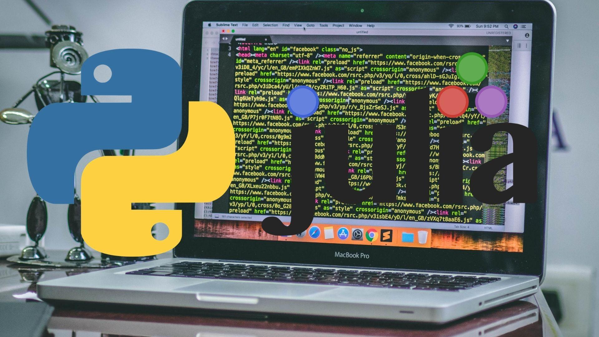 julia python data science